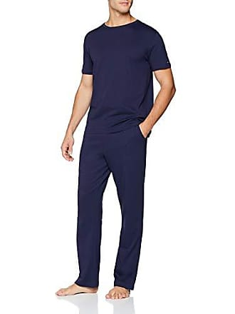 4432680ce4 Tommy Hilfiger Herren CN Set SS Zweiteiliger Schlafanzug, Rosa (Peacoat  409), Medium