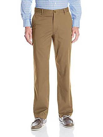 Dockers Mens Washed Khaki Straight-Fit Flat-Front Pant, New British Khaki, 32W x 29L