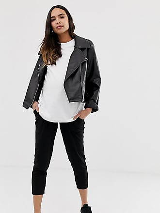 a8127ec5c5fba Asos Maternity ASOS DESIGN Maternity under the bump petite ultimate jersey  peg pants - Black