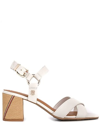 5d0b7924ad8d Tommy Hilfiger block heel strappy sandals - White