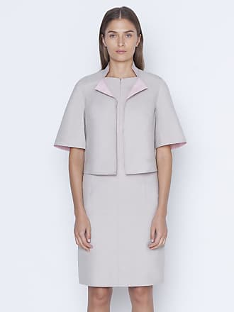 Akris Bi-color short jacket in cotton silk double-face