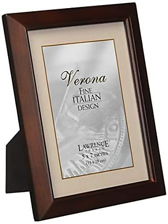 Lawrence Frames Estero Collection, Walnut Wood 5 by 7 Picture Frame