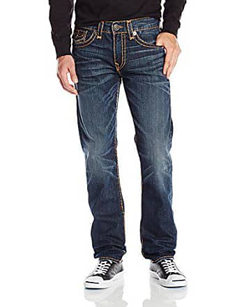 ade2267ac True Religion Mens Geno Slim Straight Super T with Flaps