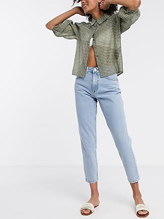 Object mom jeans in light blue wash