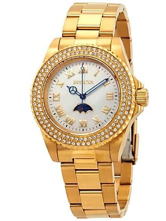 Invicta Sea Base Crystal White Mother of Pearl Dial Ladies Watch 23830