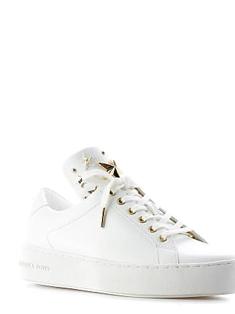 5cc09acd6d Michael Kors WOMENS 43R9MNFS6L085 WHITE LEATHER SNEAKERS
