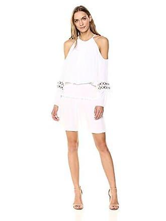 Ramy Brook Womens Libby Dress, Ivory, Medium