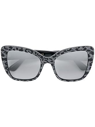 0d26b5bc1a Dolce   Gabbana Eyewear glitter leopard-print sunglasses - Black