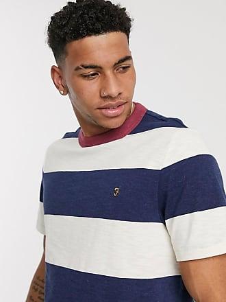 Farah Watson - T-Shirt mit Streifen in Weiß und Blau
