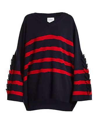 00b0b6d2798d Barrie Fancy Coast Oversized Cashmere Sweater - Womens - Navy Multi