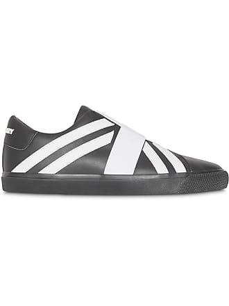 Burberry Union Jack Motif Slip-on Sneakers - Black