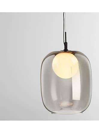 MADE.COM Masako LED-Pendelleuchte, Milchglas und Rauchglas
