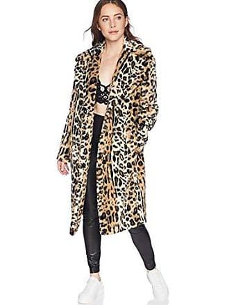Kendall + Kylie Womens Single Breasted Coat, Leopard, Medium