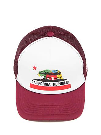 Kr3w Boné Krew Trucker Califórnia Republic II Branco Vinho 9d9efe50d2869