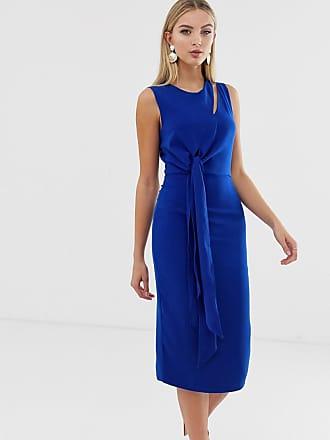 b0fb87a63574 Lavish Alice midi dress with draped side tie detail