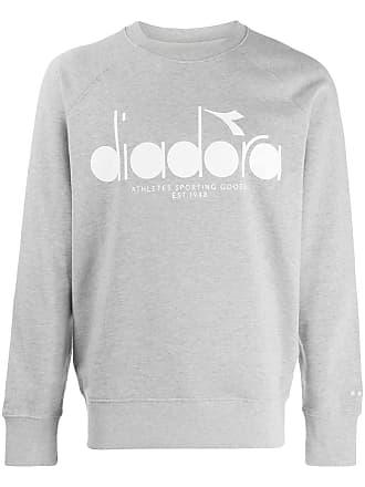 Diadora Suéter com logo - Cinza