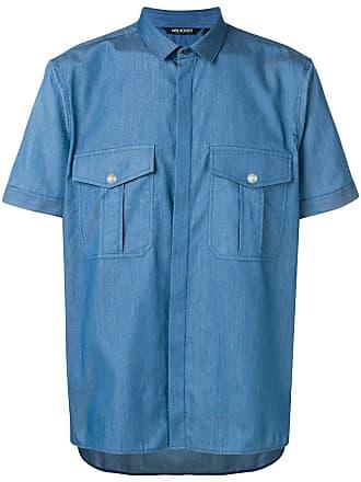 Neil Barrett Camisa com bolso no busto - Azul
