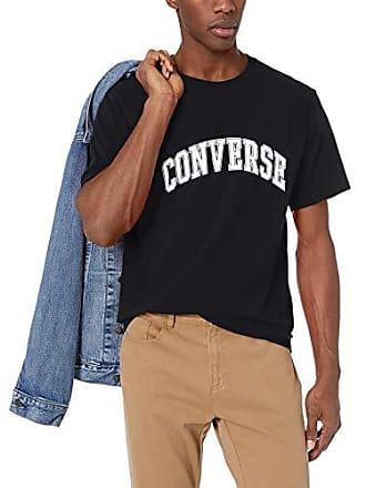 f5d81c670a5461 Converse Collegiate Text SS Tee T-Shirts   Poloshirts Herren Schwarz - XXL  - T