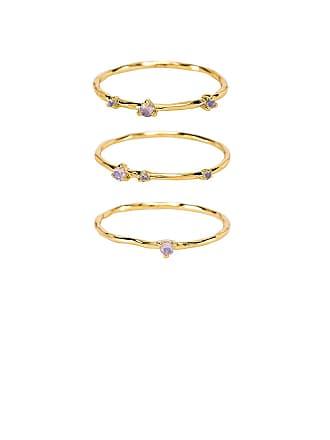 Gorjana Cleo Ring Set in Metallic Gold