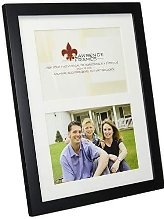 Lawrence Frames Black Wood Double 5 by 7 Matted Picture Frame