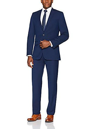 Van Heusen Mens Modern Slim Fit Flex Stretch Suit, Bright Navy, 48 Long