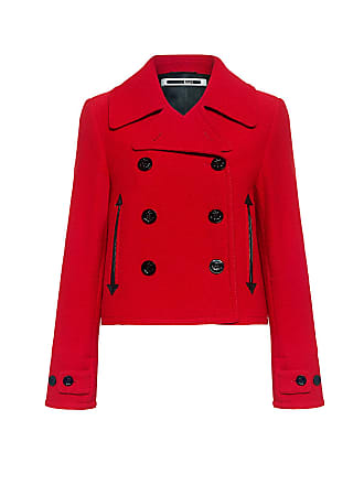 McQ by Alexander McQueen Wool Peacoat Red