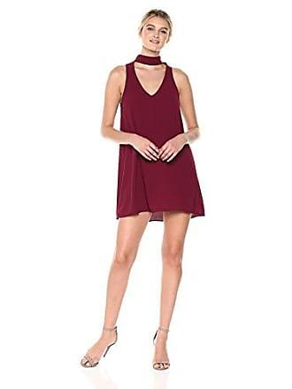 Show me your Mumu Womens Friday Choker Dress, Burgundy Pebble, XS