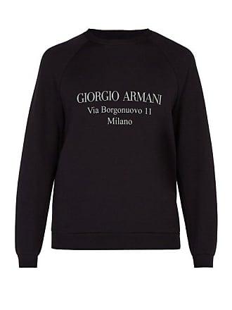 Giorgio Armani Logo Sweatshirt - Mens - Navy