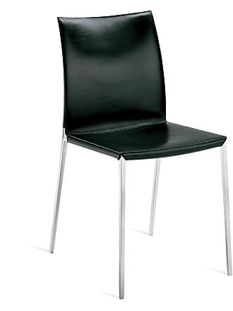ZANOTTA Design Lia Side Chair Polished Aluminium & Leather