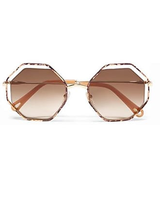 208dc3550ce3 Chloé Poppy Petite Octagon-frame Snake-effect Acetate And Gold-tone  Sunglasses -