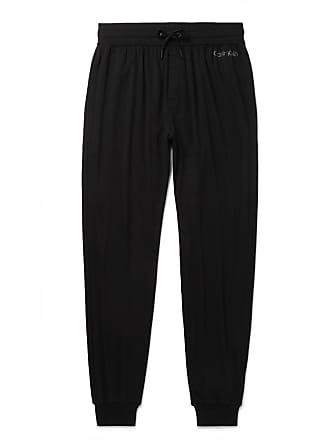 Calvin Klein Underwear Tapered Stretch Cotton And Modal-blend Sweatpants - Black