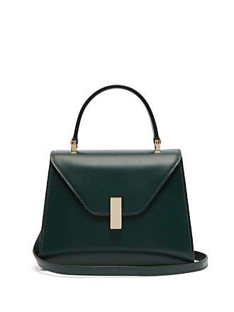 Valextra Iside Mini Leather Bag - Womens - Dark Green