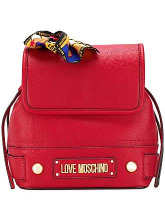 Love Moschino Mochila com detalhe de lenço - Vermelho