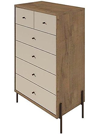 Manhattan Comfort 350554 Joy Series Freestanding Tall Bedroom Dresser, Off- Off-White