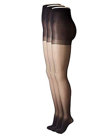 f4f55a81717d60 Hue Age Defiance Sheer Pantyhose with Control Top (3-Pack) (Black)