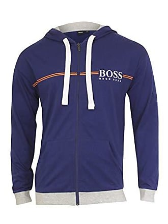 54dfd90a6 HUGO BOSS BOSS Mens Authentic Full Zip Hooded Jacket, Bright Blue, XL