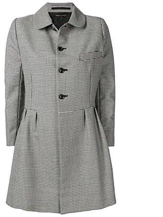 Rei Kawakubo Comme Des Garcons Black And White Wool Check Coat 6054617e9