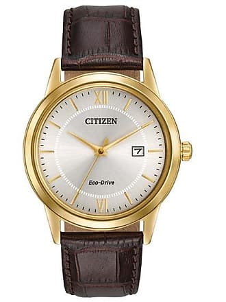 Zales Mens Citizen Eco-Drive Watch with Ivory Dial (Model: Aw1232-04A)