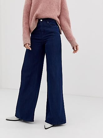 Free People Wide leg jeans med extrs hög midja - Mörk denim 8e264162214db