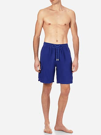 Vilebrequin Men Ready to Wear - Men Cargo Linen Bermuda Shorts Solid - BERMUDA - BAIE - Blue - XXXL - Vilebrequin