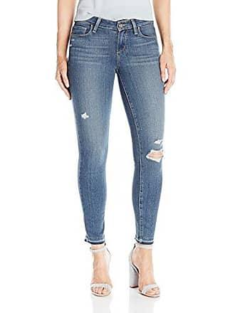 Paige Womens Verdugo Ankle W/ Folded Undone Hem Jeans, Lexi Destructed, 28