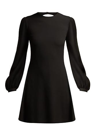 9c5cb70bd7a Saint Laurent Open Back Fluted Crepe Mini Dress - Womens - Black