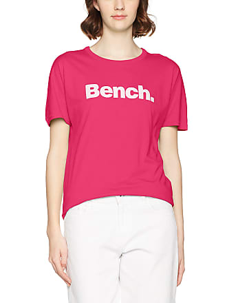 7df0cd64f41e68 Bench Womens BLWG000278 Slim Fit Crew Neck Short Sleeve T - Shirt - Pink - 8