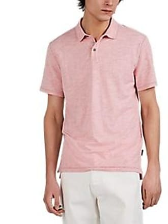 2fe2de745 John Varvatos Star U.S.A. Mens Gregory Mélange Cotton-Blend Polo Shirt -  Peach Size L