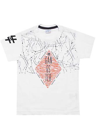 Gangster Camiseta Gangster Menino Frontal Branca