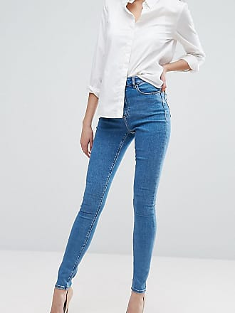 36a9dc5ab12ffc Asos Tall ASOS DESIGN Tall Ridley high waist skinny jeans in light wash