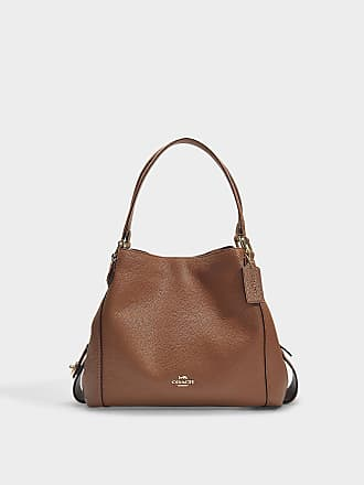 7181688eadb Coach Polished Pebble Leather Edie 31 Shoulder Bag in Brown Calfskin
