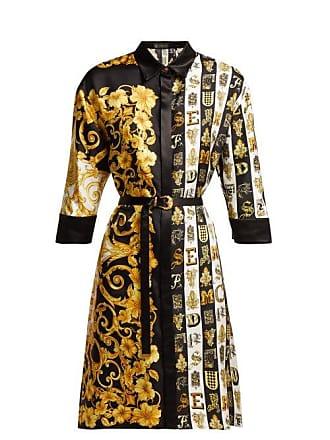 ab2181427f7 Versace Robe-chemise en sergé de soie à imprimé baroque