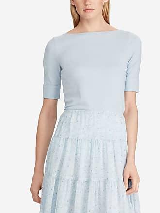 aac2b9b7f5e Lauren Ralph Lauren T-shirt Judy manches 3 4 Bleu Lauren Ralph Lauren