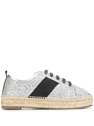 Kendall + Kylie Jury lace-up espadrilles - Grey